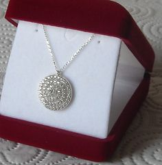 Sterling Silver Diamond Look Zirconia Necklace by Afilly D'Sign