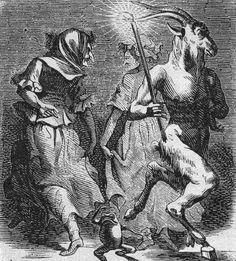 The dance of the Sabbath Illustration from Dictionnaire Infernal by Jacques Auguste Simon Collin de Plancy, 1818