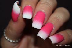 Essie Blanc, Kiko Coral Pink 282 #essie #essienails #kiko #kikonails #gradient #gradientnails #nail #nailart #nailstagram #naildesign #nailpolish #nailartaddict #instanails #tieanddyenails #lakkamafia #npa #pinknails #polishaddict #notd #thenailartstory #nails2inspire