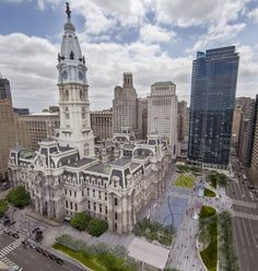 An aerial rendering of new completed Dilworth Park at the doorstep of City Hall in Center City #Philadelphia (Image courtesy Center City District / KieranTimberlake / OLIN)