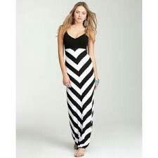 Black and white maxi dresses