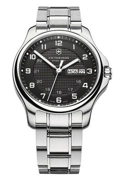 Victorinox Swiss Army® 'Officers' Bracelet Watch, 40mm.