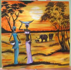 Paisaje africano óleo