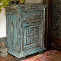 Jodhpur Wooden Bedside Table ~ Hand Crafted By Artisans In India Via Www. Worldmarket