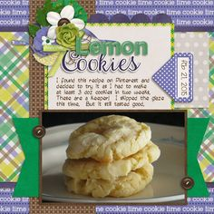 Connie Prince - Cookie Time Collection Kit: http://store.gingerscraps.net/Cookie-Time-Kit.html Extra Papers: http://store.gingerscraps.net/Cookie-Time-Extra-Papers.html Template: http://store.gingerscraps.net/Cookie-Time-12x12-Temps-CU-Ok.html  Font - John Snow and Janda Silly Monkey