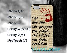 SUPERNATURAL- Gripped you tight Case,iPhone 5s/5c Case,personalized Case,iPhone 4/4S/5 Case,iPod Touch 4/5 Case,Samsung Galaxy S2/S3/S4 Case on Etsy, $9.99