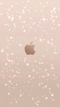 rose gold glitter apple logo iPhone 6 wallpaper click