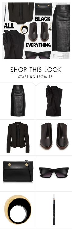 """Monochrome: All Black Everything"" by katarina-blagojevic ❤ liked on Polyvore featuring Jason Wu, MM6 Maison Margiela, Vetements, RSVP Paris, Vhernier, Barry M, Roger Vivier and black"
