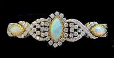 Fabulous Australian opal and diamond bracelet.