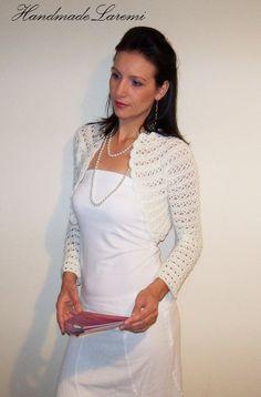 Ivory Wedding Bolero Jacket Bridal Shrug Crochet by HandmadeLaremi, $83.00