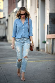 Canadian tuxedo done right-ish.