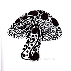 Simple Mushroom Drawings Swirly mushroom c ink drawing Neck Tattoos, Love Tattoos, Arm Tattoo, Henna Tattoos, Tatoos, Mushroom Drawing, Mushroom Art, Henna Designs, Tattoo Designs