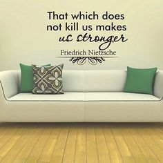 WALL DECAL VINYL STICKER FRIEDRICH NIETZSCHE QUOTE THAT WICH DOES NOT KILL SB21