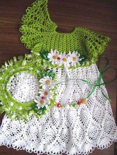 crochet dress for girl pattern diagrams pdf | marifu6a - Patterns on ArtFire