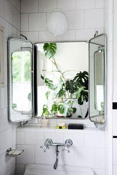 vintage style hinge mirror