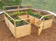 Raised garden beds are great for growing small plots of veggies and flowers. Prevent soil compaction, provide good drainage and serve as a barrier to pests #Woodworking                                                                                                                                                     More