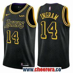 Men s Nike Los Angeles Lakers  14 Brandon Ingram Black NBA Swingman City  Edition Jersey Brandon b7b45af90