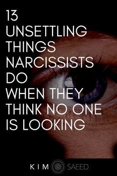 Things narcissists do in secret are downright scary. Here's what narcissistic behavior really looks like and how to look for signs of narcissism. #narcissist #narcissism #narcissisticbehavior Narcissistic People, Narcissistic Behavior, Narcissistic Abuse Recovery, Narcissistic Sociopath, Narcissistic Personality Disorder, Traits Of A Sociopath, Signs Of A Sociopath, Relationship With A Narcissist, Toxic Relationships