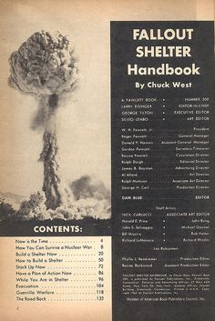 Fallout Shelter Handbook contents by wardomatic, via Flickr
