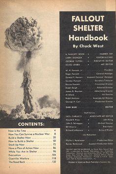 Fallout Shelter Handbook contents by wardomatic, via Flickr