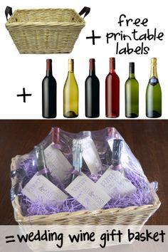 Ramblings from the Burbs: Wedding Shower Wine Gift Basket
