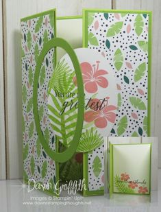 Interlocking Gate Fold card video ~ Two for Thursday - Dawn's Stamping Thoughts
