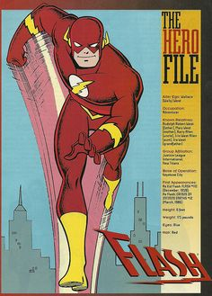The Flash by Mike Parobeck and inker by Rick Burchett