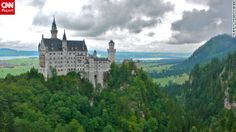 """Steven Schier shared this photo of Neuschwanstein Castle. """"The beautiful Bavarian mountains are a short train ride southeast of Munich and include the astounding fairy-tale Neuschwanstein Castle built by King Ludwig in the late 19th century."""""""