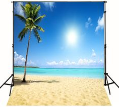 >> Click to Buy << Sea Sand Tropical Beach photo backdrop Vinyl cloth Computer printed Wedding Backgrounds #Affiliate
