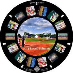 Lowell Spinners Baseball on a Custom Reel