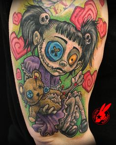 Voodoo doll tattoos are the most popular voodoo tattoos, but there are many varieties. Check out this gallery of all kinds of voodoo tattoos! Tattoo Girls, Girl Tattoos, Tatoos, Zombie Tattoos, Creepy Tattoos, Voodoo Doll Tattoo, Voodoo Dolls, Vodoo Tattoo, Body Art Tattoos