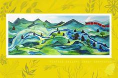 Vintage valley: Jenny Gravestam  Acrylic: 130x60 cm