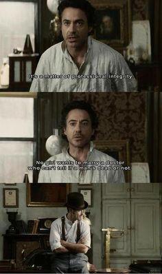 Bahaha. Can't wait to watch N.2 #Sherlock Holmes