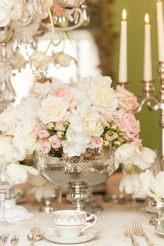 Floral Arrangement | Downton Abbey Wedding Inspiration