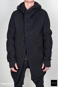 My new jacket: Boris Bidjan Saberi BBS Style Me, Black Style, Man Style, Dystopian Fashion, Casual Outfits, Men Casual, Sweaters For Women, Men Sweater, Rock Fashion