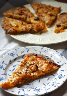 rustic butternut rosemary tart with oven roasted garlic