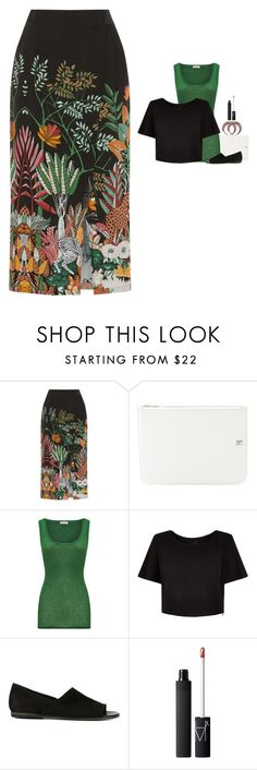 """""""Warehouse - Jungle Print Midi Skirt Style"""" by twinklebluegem on Polyvore featuring Courrèges, American Vintage, New Look, PANTANETTI and Givenchy"""