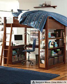 Loft Beds Desk & Sleep Study Surf Bedroom | PBteen