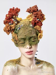 Man vs nature art Ideas for 2019 Photography Projects, Portrait Photography, Abstract Photography, Headdress, Headpiece, Man Vs Nature, Growth And Decay, A Level Art, Gcse Art