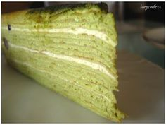 My first taste of mille crepe was in section Petaling Jaya. Crepe Cake, Crepe Recipes, Mille Crepe, Vanilla Cake, Cupcake Cakes, Dutch, Pancakes, Food And Drink, Cooking Recipes