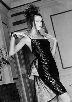 """""""Rome: Le Mythe Des Stars"""", VOGUE France, September 1985 Photographer: Patrick Demarchelier Model: Yasmin Le Bon"""