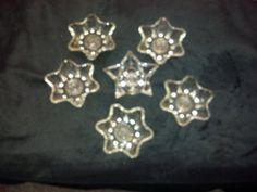 Vintage Star Candle Holders Clear Glass Taper Candle by RCEastman, $7.00