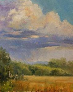"Daily Paintworks - ""Storm clouds en plein air"" - Original Fine Art for Sale - © Veronica Brown"