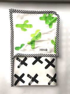 Organic Cotton Blanket - Cactus and Crosses