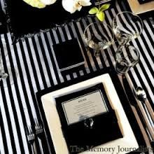 Black and White Pin Stripes table runners and wedding runners, wedding reception, Baby Shower Kate Spade inspired by EllaBellaFabric…