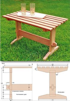 Outdoor Coffee Table Plans - Outdoor Furniture Plans & Projects | WoodArchivist.com
