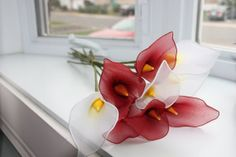 Nylon Flower Calla Lilies bouquet wedding by TheCallendersFlowers, $20.00 #flowers #romance #giftforher