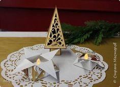 Кусудама Новый год Оригами Елка украшенная оригами-декором Бумага фото 16