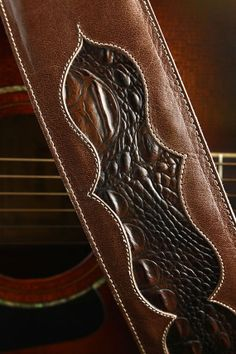 Ethos Leather Guitar Strap, Epiphany Guitar Strap