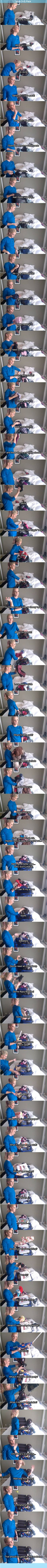 HAHA how girls pack by jenna marbles!However, as a girl who leaves for vacation this week... this is accurate.